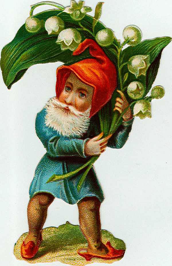 Vintage Garden Gnome Graphic